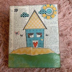 Handmade 8x10 art work canvas wall art craft room